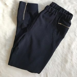 Maison Scotch Pants - Maison Scotch black ankle zip joggers