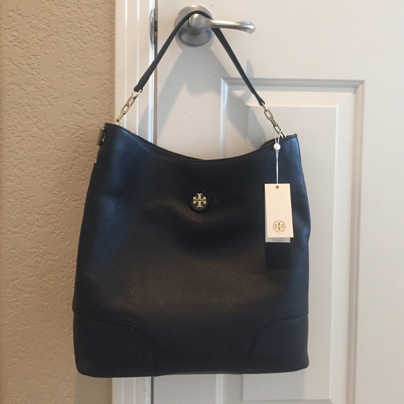 cf94c6dba6d Tory Burch Whipstitch Logo Hobo
