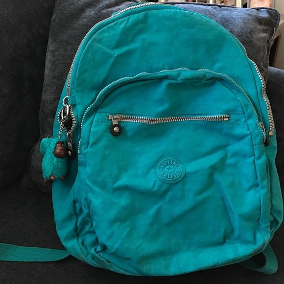 ae9118e8f71 Kipling Accessories | Seoul Backpack Green Blue | Poshmark