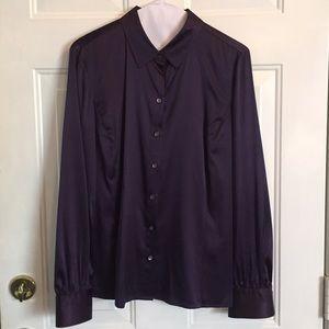 Ann Taylor Purple Silk Blouse