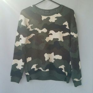 Topshop Sweaters - TOPSHOP Camo Sweater