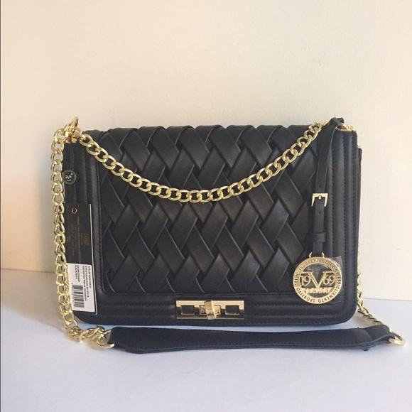 ae6526e9c6b1 Versace Nom Du Necessitas Weave Crossbody Bag NWT