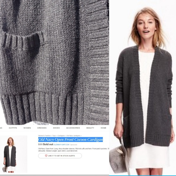 Old Navy - Old Navy Open Front Cocoon Cardigan from Renata's ...