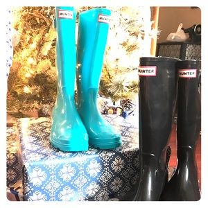 Hunter Boots Shoes - Tiffany blue hunter rainboots