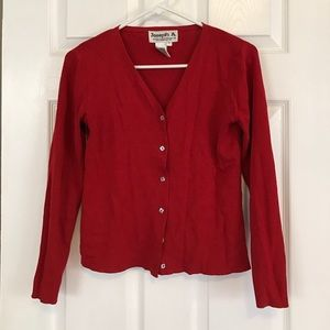 Joseph Allen Sweaters - Red cardigan sweater