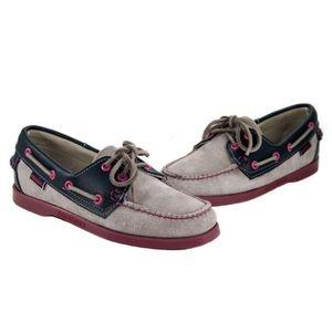 Sebago Docksides Spinnaker Boat Shoe Blue Pink