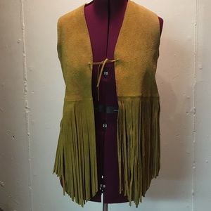 Jackets & Blazers - Suede fringed vest. Small to medium.