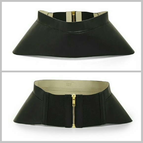 125ab3304df NWT BCBG leather zip-corset waist belt