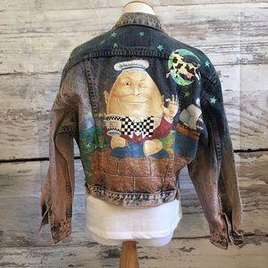 Jordache hand painted vintage jean jacket
