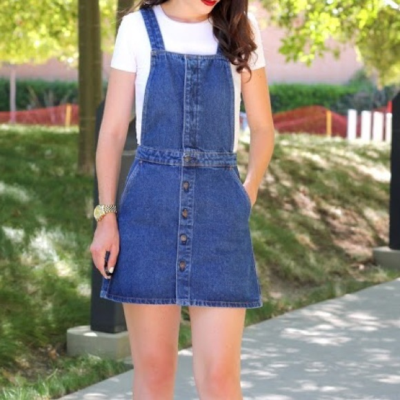 online store how to get select for clearance BNWT - Zara Trafaluc Denim Overall Mini-dress NWT