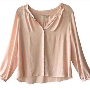 LOFT Tops - LOFT Pink Button Down Blouse Long Sleeve Petite XL