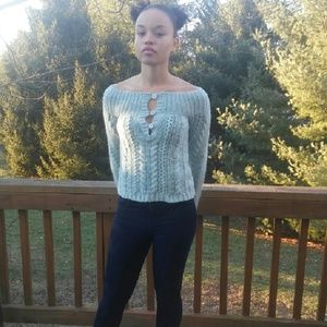 Sweaters - Knitted Blue sweater