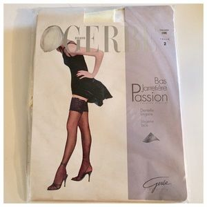 NWT Gerbe French  Stockings, Stay Up's, Ivory❤