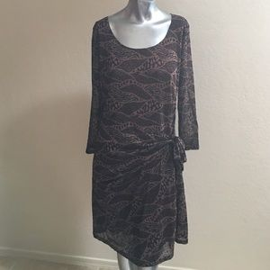 Reborn XL Brown, Black & Dark Brown Dress NWT 
