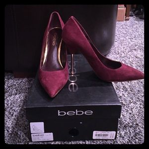 """Brand NWT Bebe """"Dara"""" suede heels!"""