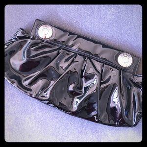 Henri Bendel Black Patent Leather Clutch