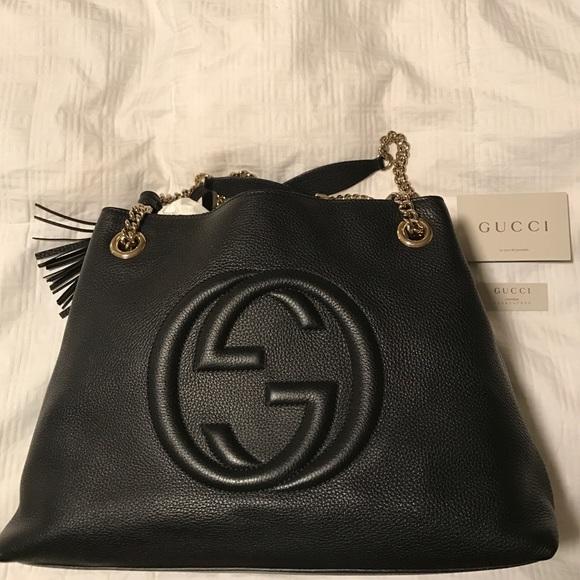 d6a7360f811 Gucci Handbags - Authentic Soho Leather Gucci Bag