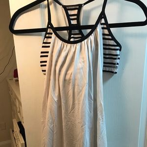 lululemon white work out tank top