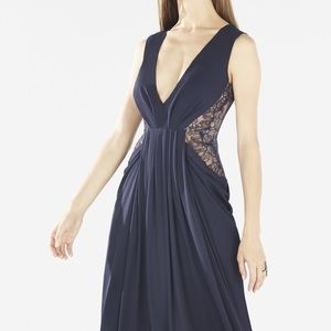 BCBGMaxAzria Dresses & Skirts - Brand new BCBG navy lace gown (never been worn)