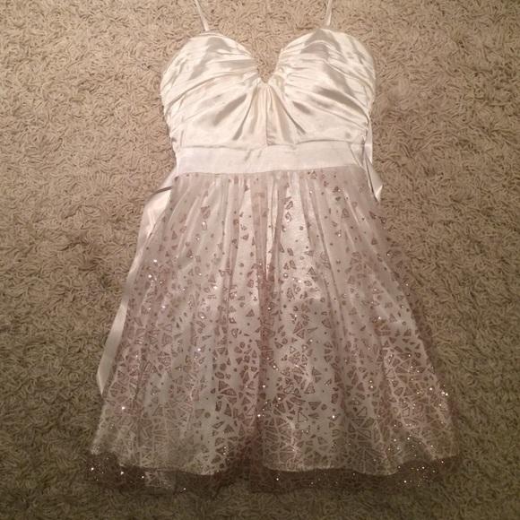 Whiterose Gold Short Prom Dress