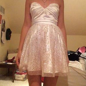 Jcpenney Dresses Whiterose Gold Short Prom Dress Poshmark