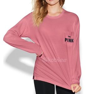 VS Pink L campus long sleeve tee