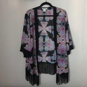 Arden B floral kimono