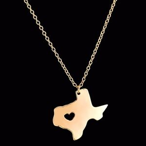 Jewelry - 🌵TEXAS state 18k gold plated necklace