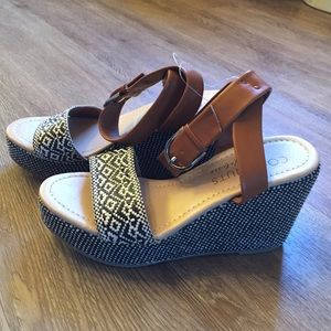 coconuts Shoes - Coconuts Lucie Raffia ankle wedge, size 9, NWT!