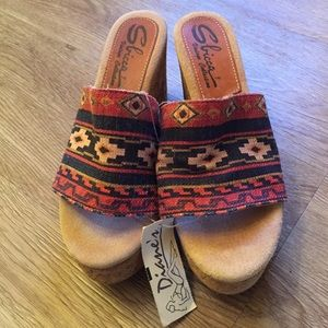 Sbicca Shoes - Sbicca Aztec wedge, size 9, NWT!