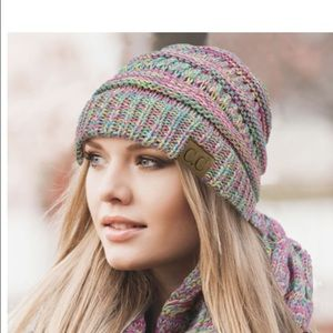 Accessories - NWT SET CC multi colored beanie and tech gloves