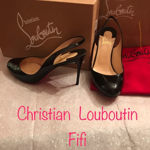 pretty nice bb856 b0df1 Christian Louboutin Fifi patent sling backs 👠
