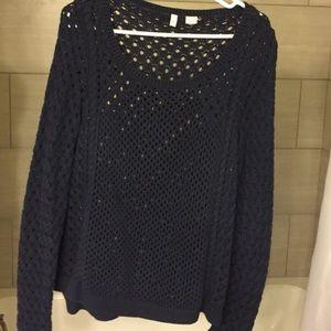 Anthropologie Navy Blue Sweater