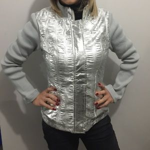 Jackets & Blazers - Metallic Silver Jacket