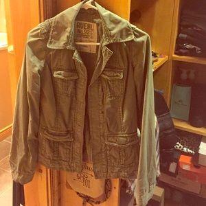 Ruehl No. 925 Jackets & Blazers - Ruehl NO. 925 Army Green Jacket
