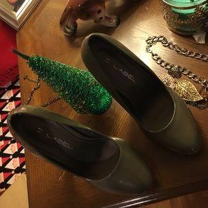C. Label Shoes - Gray heels