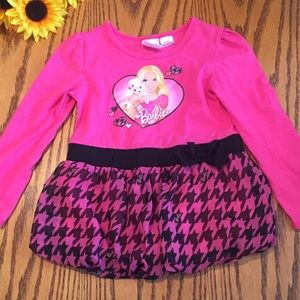 Barbie Other - Barbie Pink and black bubble tunic. Size 5t