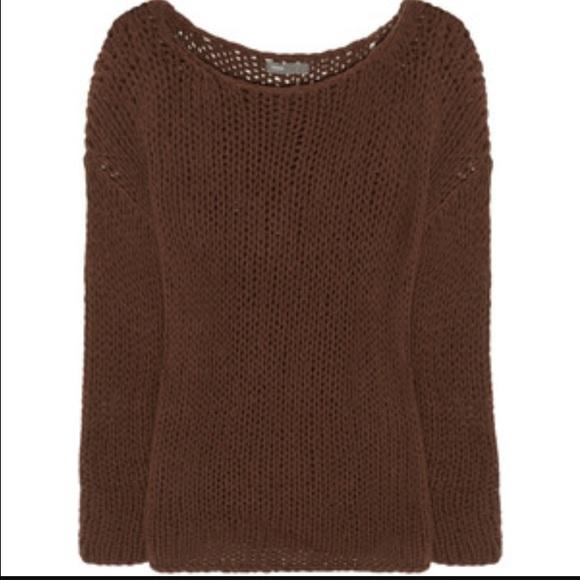 94% off Vince Sweaters - 🤑sale🤑Vince brown wool open weave knit ...