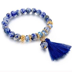 CHICBOMB Jewelry - Natural stone bohemian bead bracelet with tassel