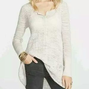 Free People Sheer Ribbed Henley