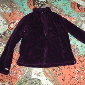 White Sierra Jackets & Blazers - Purple Fleece Jacket