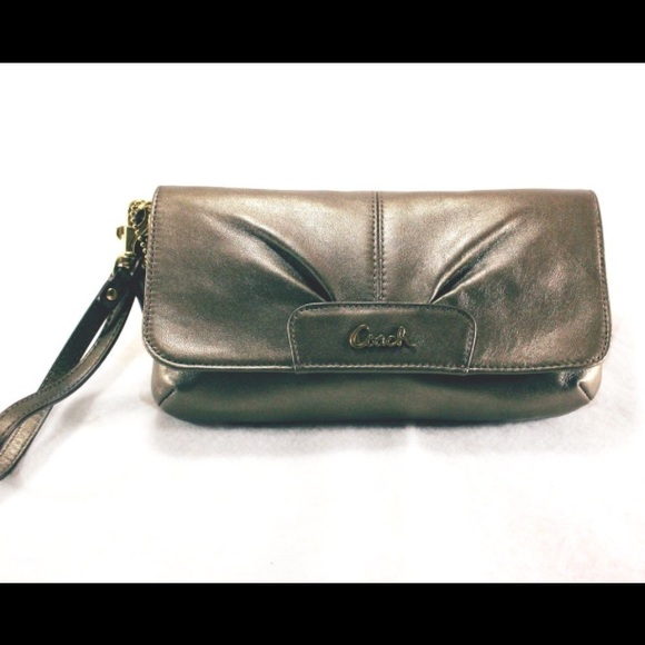 Coach Handbags - COACH Metallic Large Wristlet