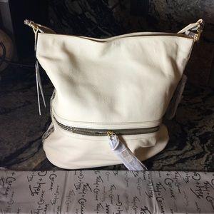 Foley + Corinna Handbags - Foley + Cotinna Ecru Leather Shoulder Bag.16261