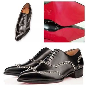 Christian Louboutin Spiked Derby Dress Shoes
