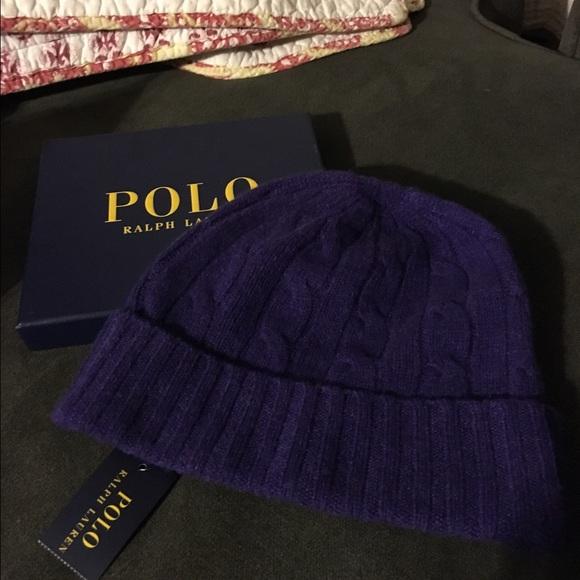 Polo Ralph Lauren purple cashmere hat 🎩 NWT 4490b5d3d97