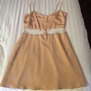 Paper Crown Dresses & Skirts - Cream spaghetti strap dress.