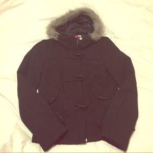 H&M Black Toggle Coat - size 4