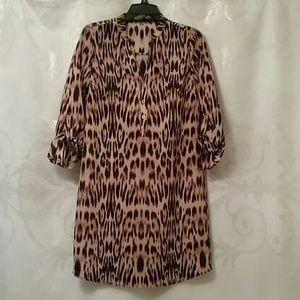 the Limited  Dresses & Skirts - The Limited flowey artist dress / leopard cheetah