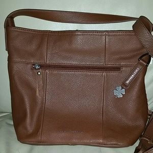 Lucky Brand Brown 100% Genuine Leather Crossbody
