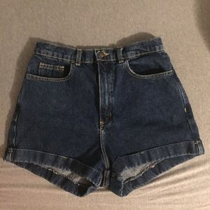 American Apparel Pants - American Apparel Denim High Waisted Shorts Sz 30